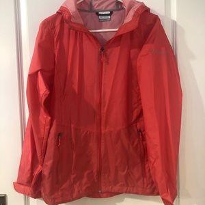 Columbia watermelon colored windbreaker jacket